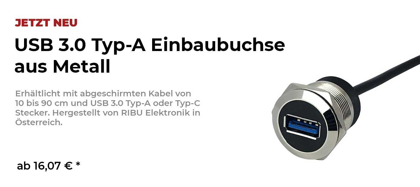 USB 3.0 Einbaubuchse von RIBU Elektronik