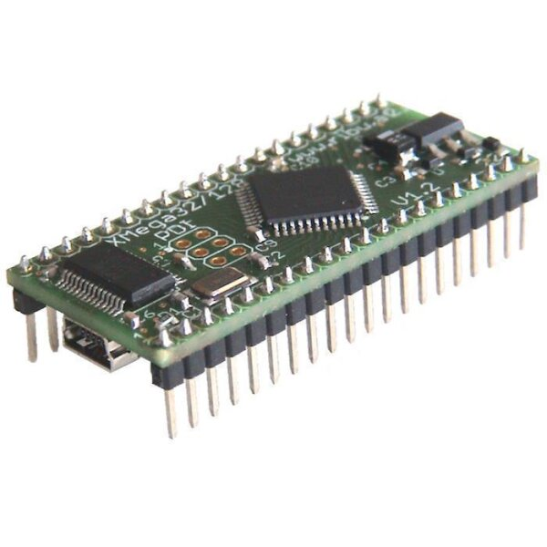 ATxMega128a4U Controller Board mit TR868 Funktransceiver SMA st