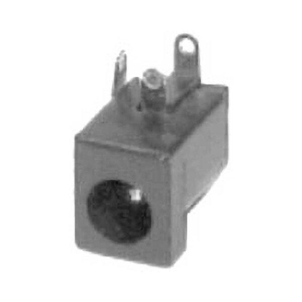 Einbaubuchse Hochlstecker / Lötanschluss / AD 5,5 mm / ID 2,1 mm
