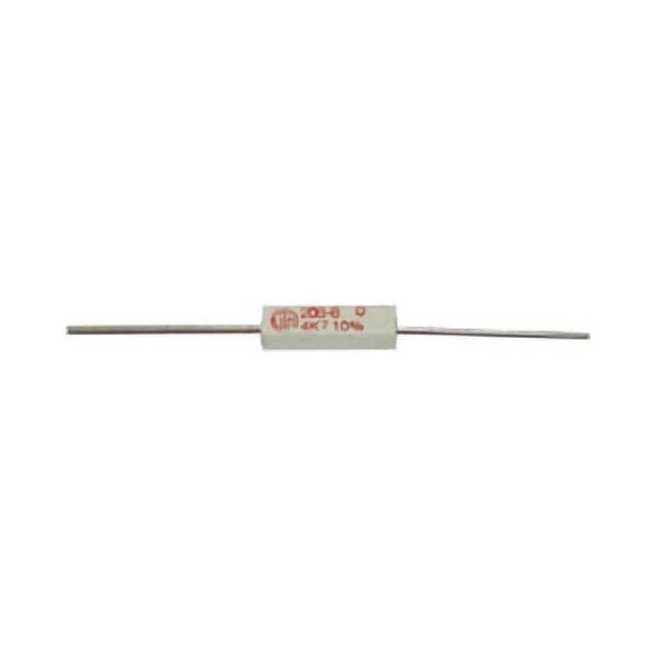 Draht-Widerstand / 2,7 KOhm / 5 Watt / 10%