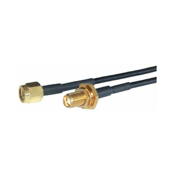 SMA-Verlängerungkabel / Einbau-SMA-Buchse / 15 cm