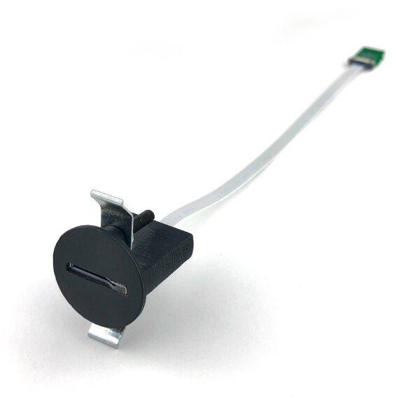 Runde MicroSD Einbaubuchse aus schwarzem Kunstoff von RIBU Elektronik