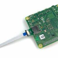 Runde MircoSD Einbaubuchse mit MicroSD Verlängerungskabel 19 cm