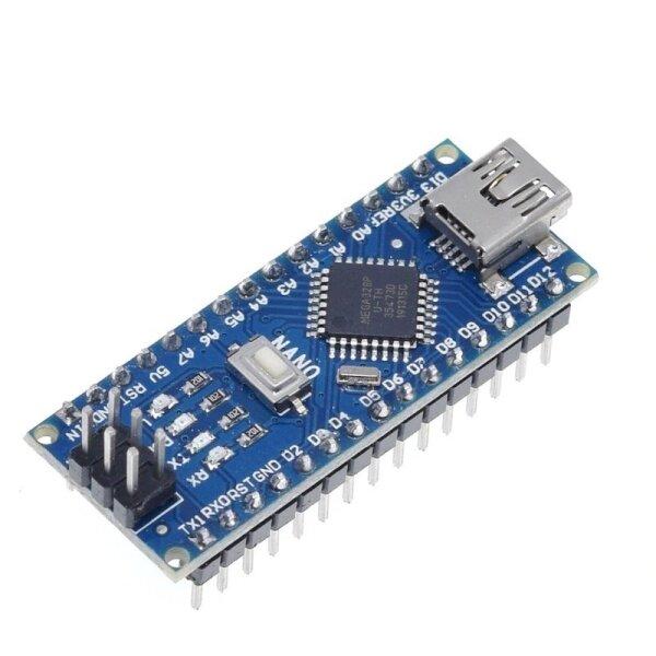 Arduino Nano kompatibles Board mit dem ATmega328P von Microchip und Mini USB Buchse