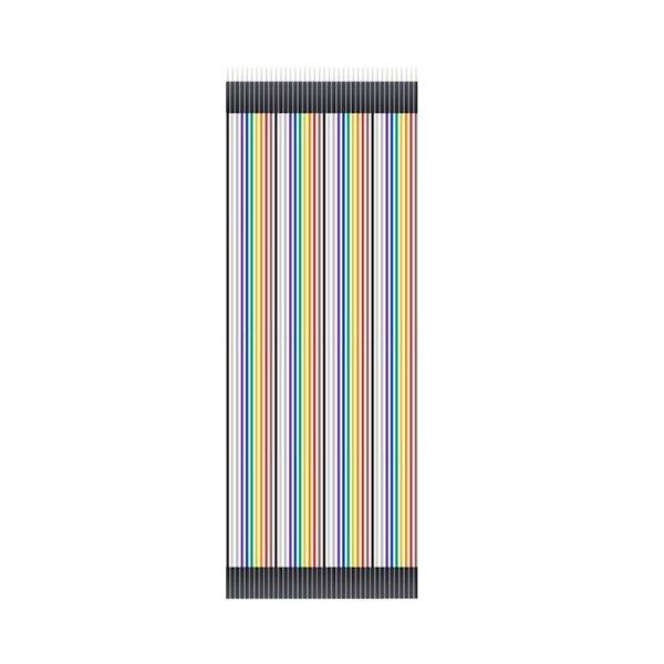 Steckbrückenkabel für Breadboards 20 cm männlich zu weiblich