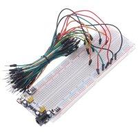 Breadboard 830 Pole + Netzteil + Kabel