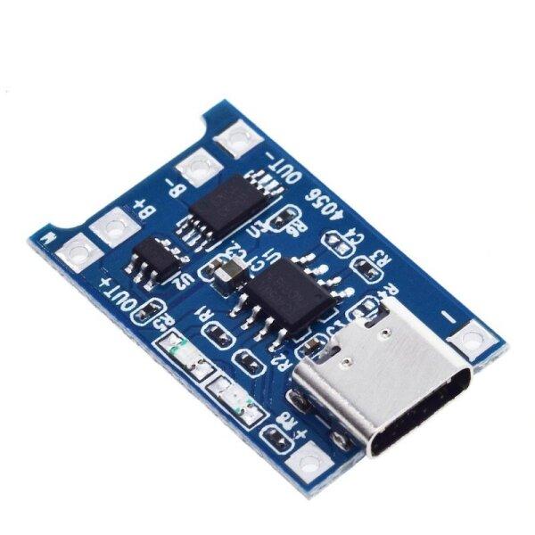 Lithium-Ionen USB-C Lademodul TP4056 Akku-Schutz