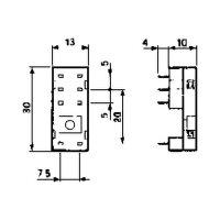 Relais-Printfassung 2x UM Finder Serie 40.52, 40.61