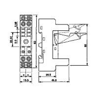 Relaissockel 2x UM Finder Serie 40.52, 40.61