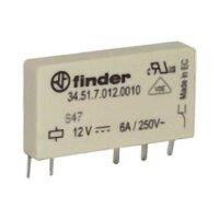 Finder-Steckrelais schmal Serie 34.51, 1x UM, 250V/6A, 24VDC