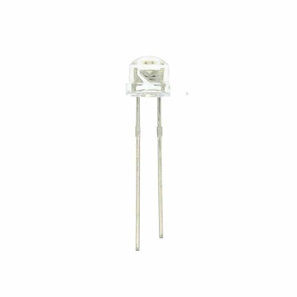 StrawHat-LED 5 mm / gelb / klar / 1500 mcd / 120°