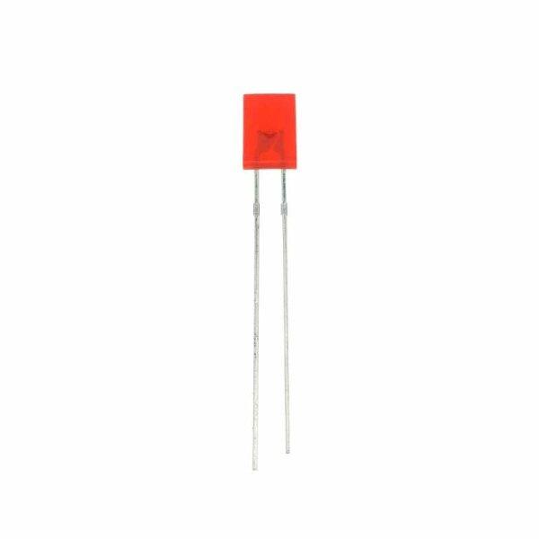 LED rechteckig 5x2 mm / rot / diffus / 1,1mcd / 140°