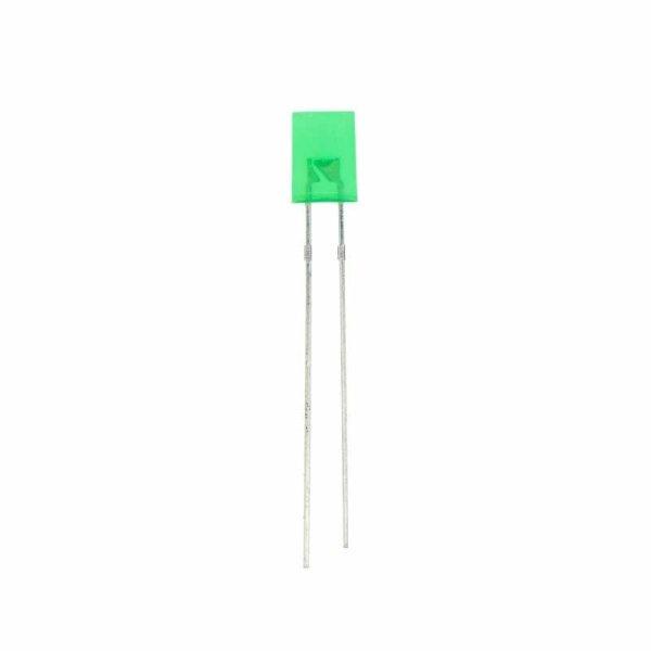 LED rechteckig 5x2 mm / grün / diffus / 3,7mcd / 140°