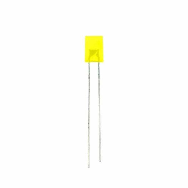 LED rechteckig 5x2 mm / gelb / diffus / 3,7mcd / 140°