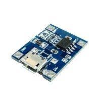 Kleines Lithium-Ionen-Akku Lademodul mit dem TP4056 Ladecontroller und Micro USB Buchse