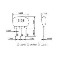 Keramik-Resonator, 3-pin, RM 2,5 mm