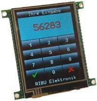 """ATxMega256a3U Controller Board mit 3.2"""" Touchscreen"""