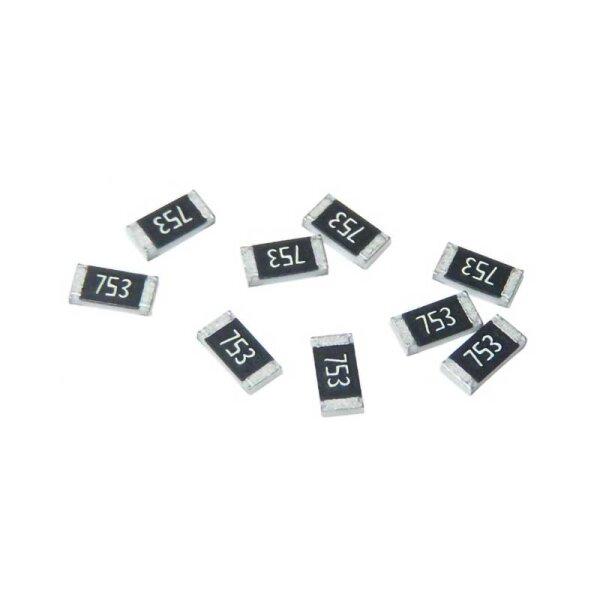 100 Stk. SMD-Dickschicht-Widerstand / 0,0 Ohm / 0,125 Watt / 5% / 0805